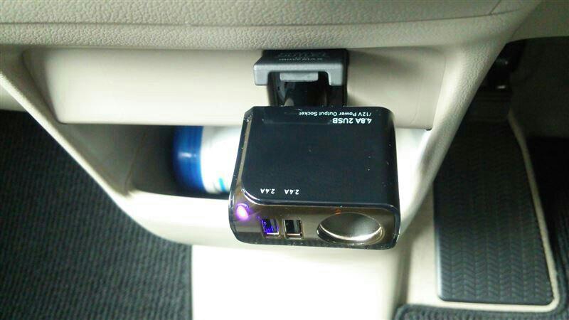 アクセサリ追加(USB電源ソケット・ゴミ箱)