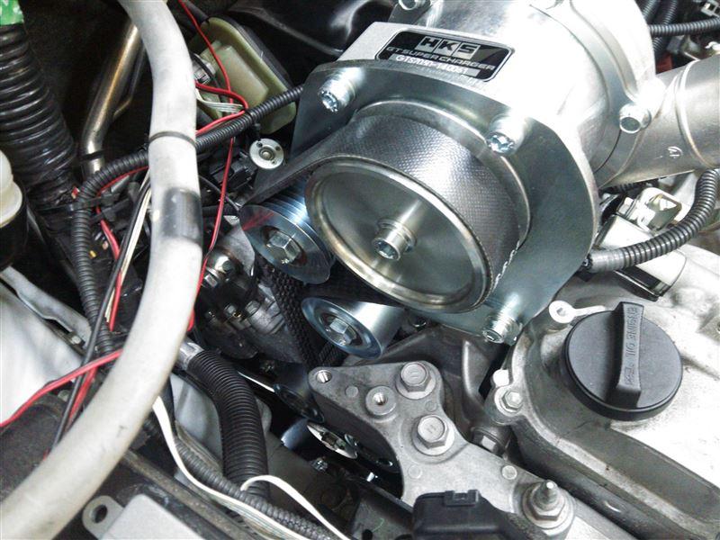 HKS GT SUPER CHARGER COMPLETE KIT 取り付け。