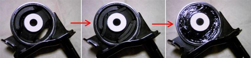 純正エンジンマウントの強化(その2)