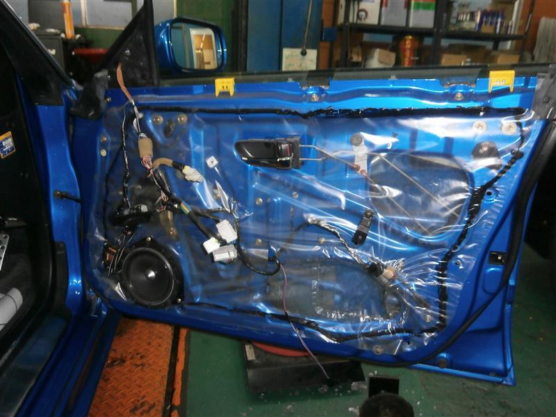 レガシィツーリングワゴン BH5 持ち込みドアミラー交換 大阪府東大阪市