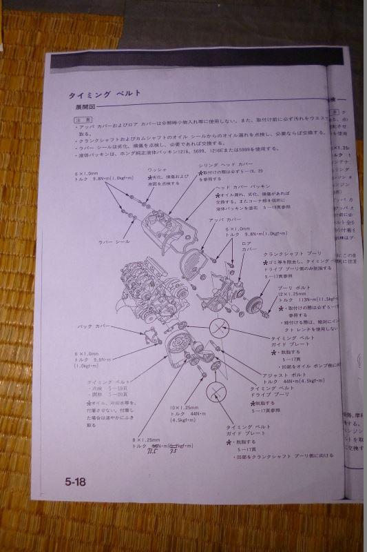 ホンダ Z E07Z タイミングベルト交換編 その1