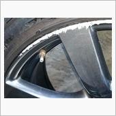 日産GTRホイール修理 R35純正ハイパー ガリ傷の画像