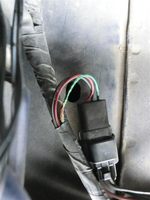 方向指示器の配線修理