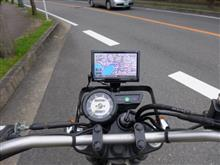 セロー250 バイクナビのベスト・ポジション(取り付け)のカスタム手順1