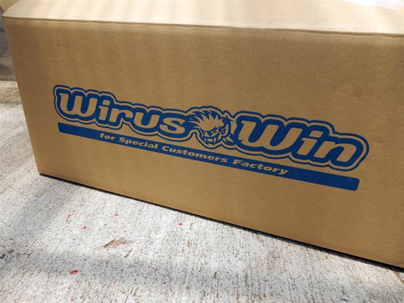 WirusWin 大型チャンバー型 パワーエアクリーナーKit 1.1L&遮熱板取り付け
