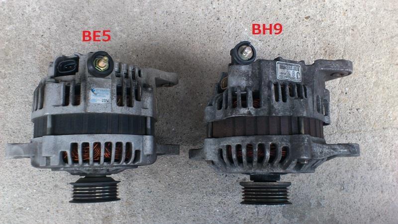 BE5にBH9のオルタネーター取り付け