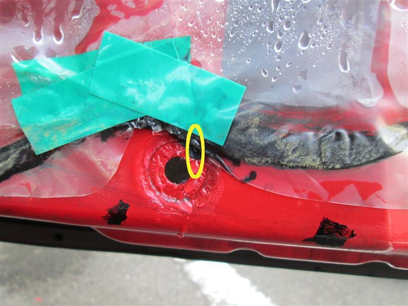 ドア内張からの雨漏り箇所特定