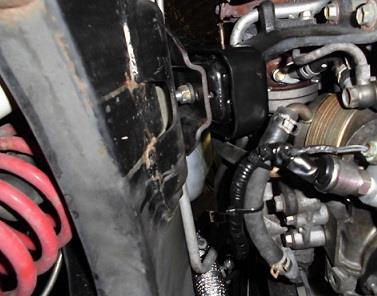 強化エンジンマウント取付け、キャスター補正ブッシュ圧入~アーム交換