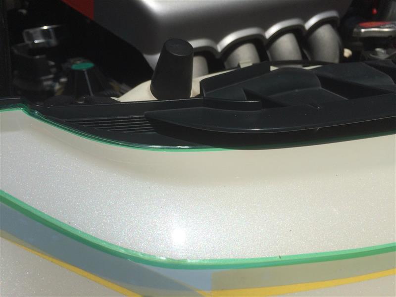モデューログリルに5Dカーボンシートを貼ってみた・・・けど(^_^;)