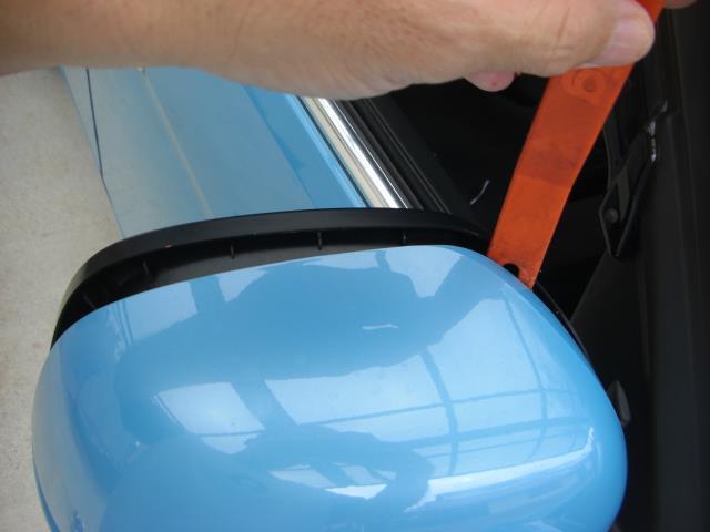 ドアミラーのミラー及びカバーの外し方