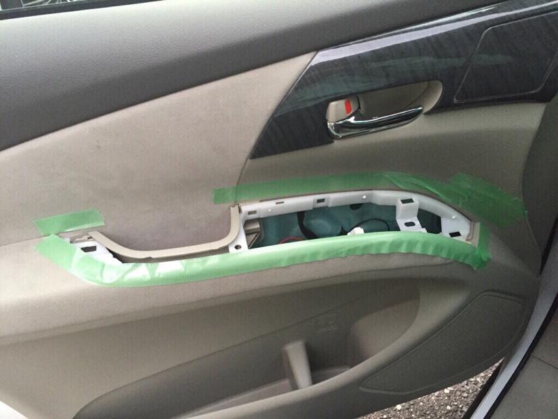 トヨタ(純正)改 パワーウィンドウスイッチ(助手席側)LED打ち替え済み基板に交換(美白化)①