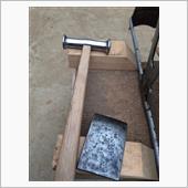 フロント フェンダー 凹み板金施工