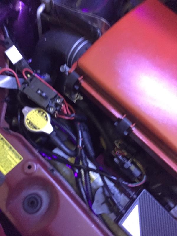 フロント電装品のバッテリー直結リレー化