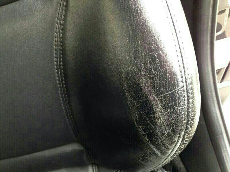 レザーシートのひび割れ補修