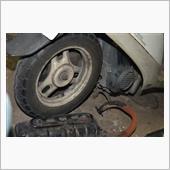 リヤブレーキ点検修理