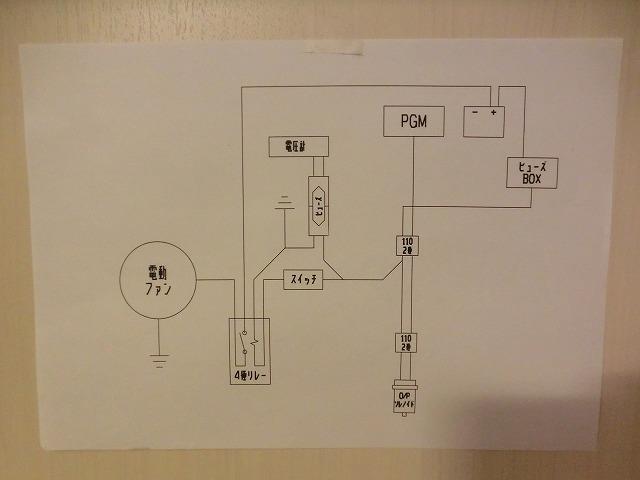 電動ファン・電圧計取付け1