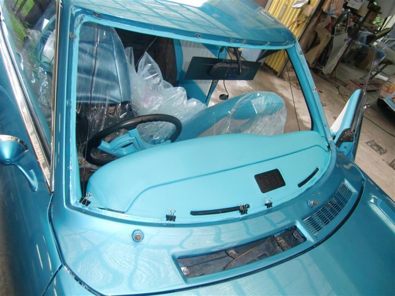 初代セリカ~フロントガラス交換&錆処理・塗装