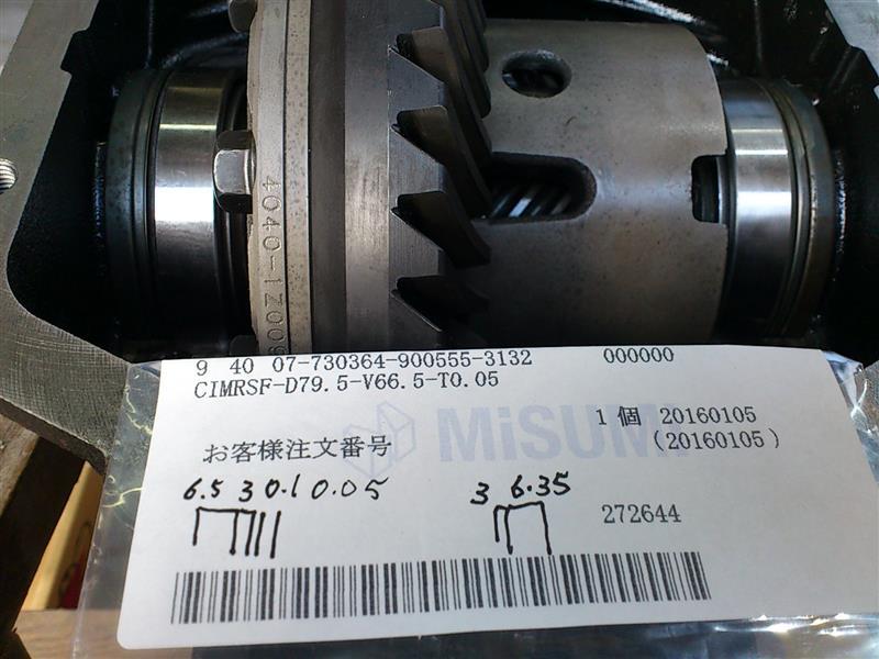 使用したシムはデフギア側から6.5mm 3.0mm 0.1mm 0.05mm 反対側 3.0mm 6.35mm<br /> これでバックラッシュはほとんどありません。<br /> ほんの少しコトコトする程度です。