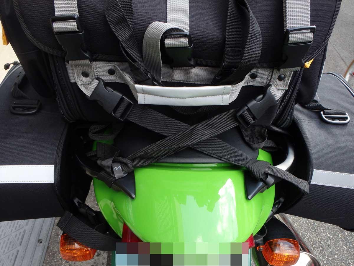 シートバッグのフィッテイングテスト
