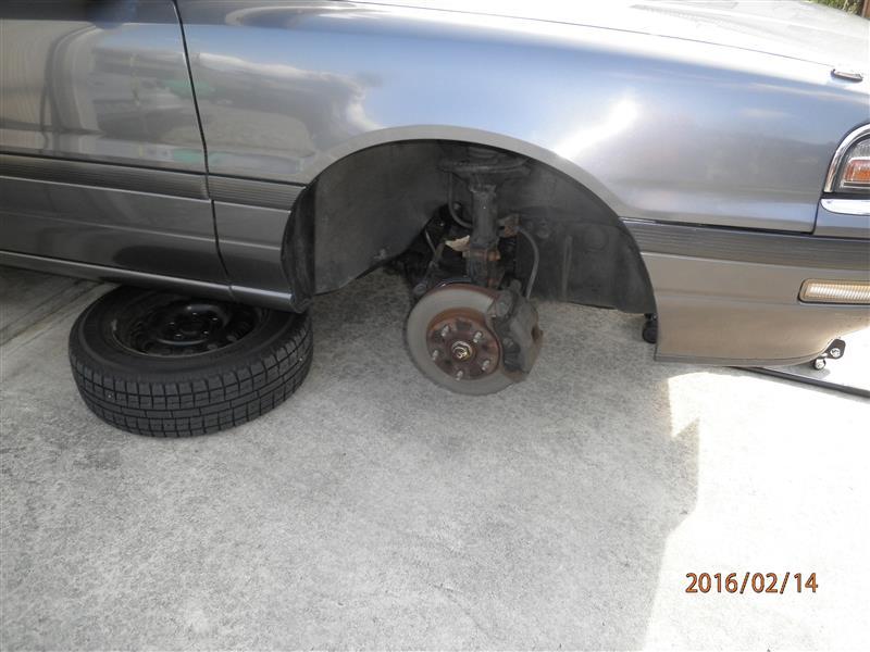 ペルソナ ドライブシャフトインナー側ブーツ破れ修理