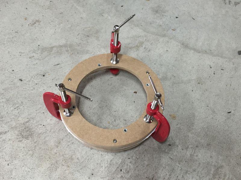フロントバッフルボード制作