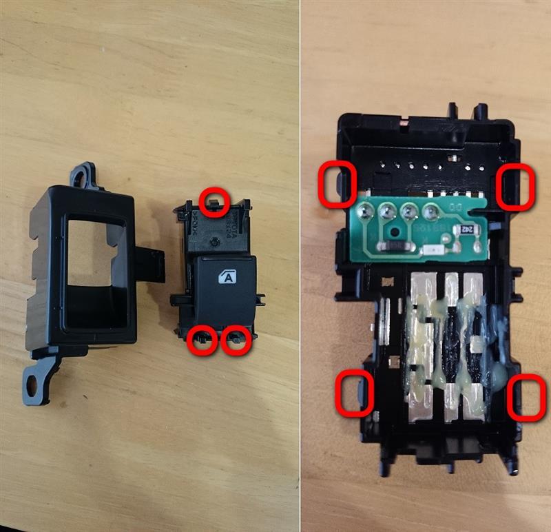 リアPW スイッチ LED打ち替え