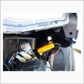 M8ボルトナット、ワッシャーを使い車体とステーを写真のように固定しました。<br /> M8ボルト→ステー→ワッシャー×2→車体→ナットみたいな順番です。