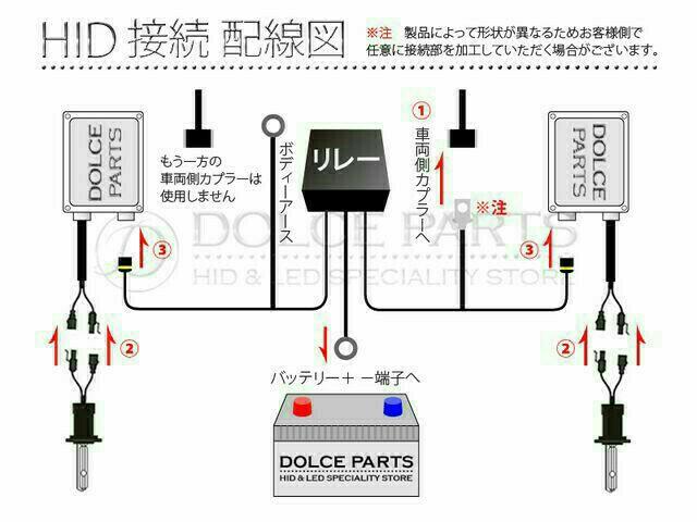 HID電源強化リレーハーネス H4 電圧不足解消 電源 …