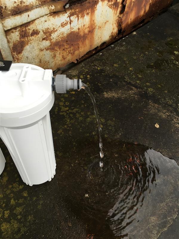 軟水器フィルター再生