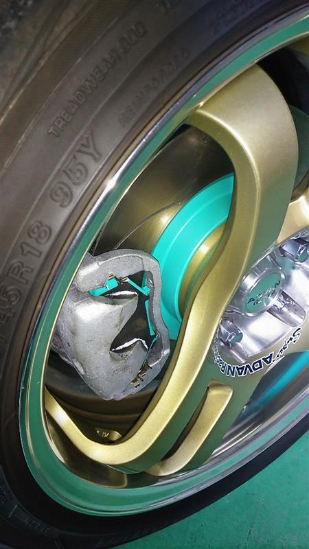 Project μ SCRピュアプラス6塗装済 ブレーキローター交換(フロント)