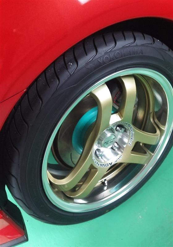 Project μ SCRピュアプラス6塗装済 ブレーキローター交換(リア)