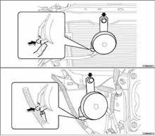 レガシィツーリングワゴン ホーン交換のカスタム手順1