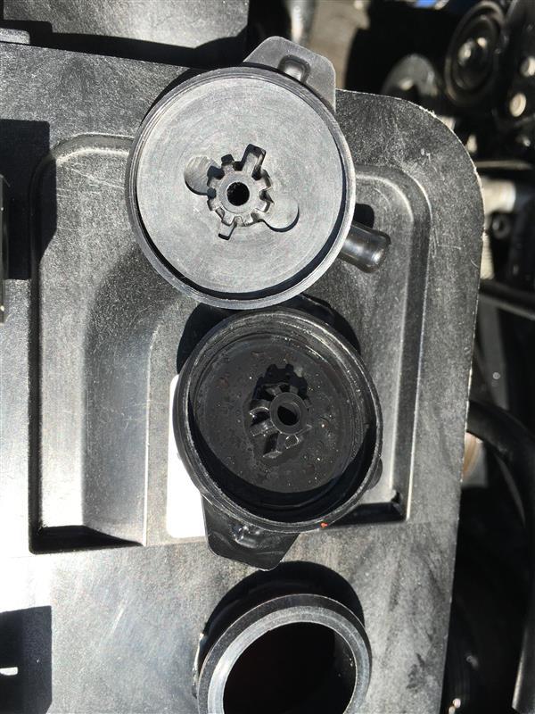 リザーバータンク漏れ対策(穴塞ぎ)