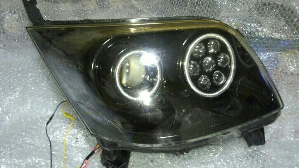 ムーヴL175 ヘッド 加工品加工 インナーブラック+イカリング+モノアイ+2色ウインカーポジション