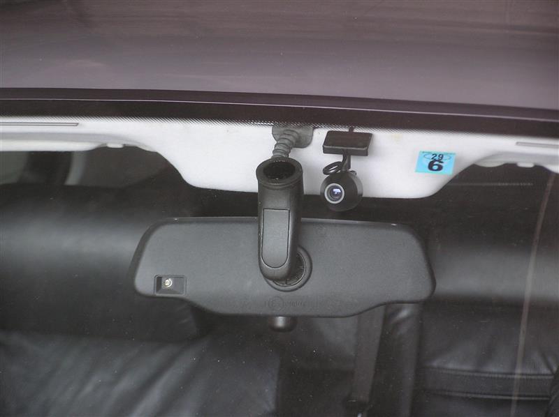 ドライブレコーダー用カメラ取付