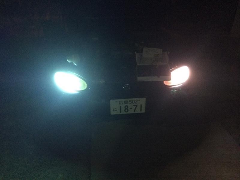 ヘッドライトHID化 HIKARI TKK二代目