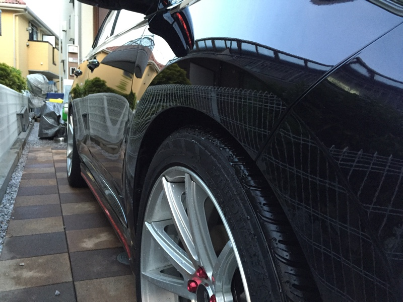 VooDooRide JUJUシャンプーの洗車後