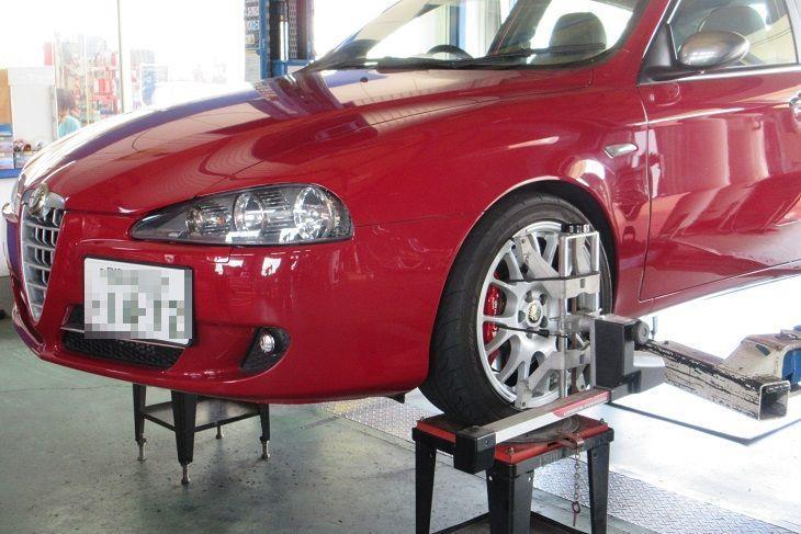 トータルアライメント調整...アルファロメオ147 車高調整+メンテナンス