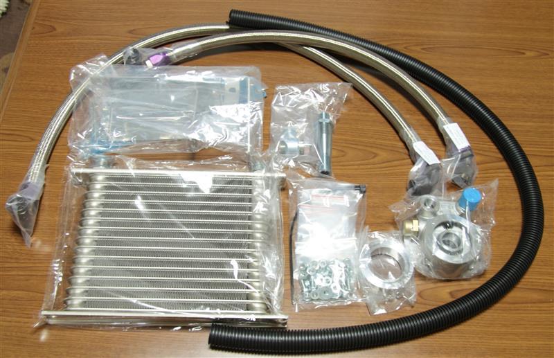 水冷式オイルクーラ―から空冷式オイルクーラーに更新です!