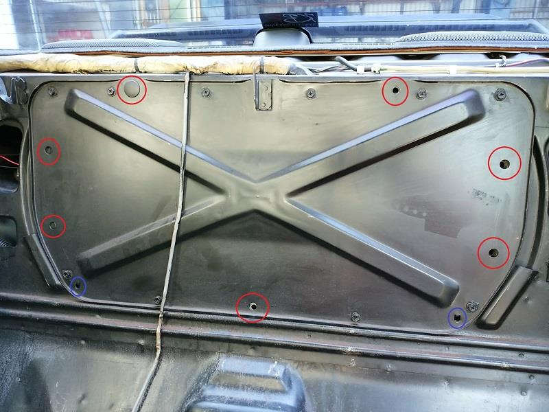 BNR32 リアバルクヘッド ナッターで簡単補強(笑)