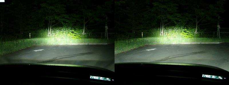ハイビームヘッドライトLED化
