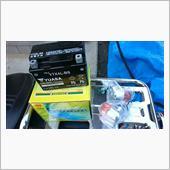 バッテリー&ウィンカーASSY交換