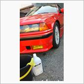 で、ボディも濡れちゃったのでついでに<br /> バケツ洗車 真昼間だと灼熱でしたし<br /> 丁度良かったのかな?<br /> 洗車まで終わっても僅か15分の作業でした。