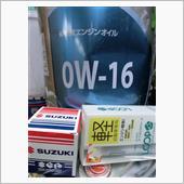 エンジンオイル 0W-16 2.7l 交換<br /> オイルフィルタ 交換<br /> LOOP エンジン コート&リカバリーK 注入