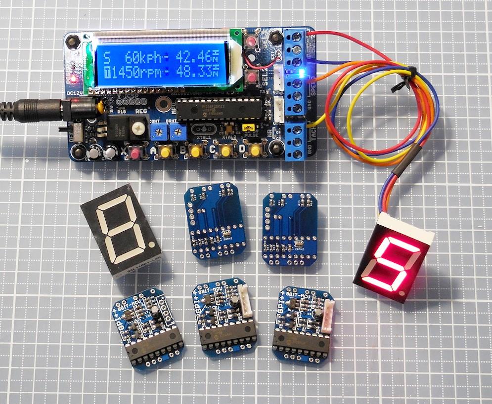 できあがった基板の動作チェックは、これまた自作(回路&基板&プログラム)の自動車パルスジェネレータでパルスを印可して確認します.<br /> <br /> 各車の特性を入れてあるので、速度をボリュームコントローラで、ギアをボタンで変速することで、現状対の車速と回転に応じたパルスが出力されます。<br /> <br /> こんなパルスジェネレータなんて売ってないですからね。便利です!<br /> <br /> ◆パルスジェネレータの動作紹介<br /> https://youtu.be/RrVb1HBGV1k
