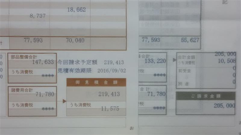 2003年式…2号機購入後3回目の車検 149021キロ