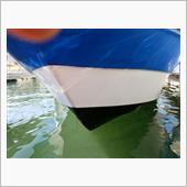 船底塗装と腰下メンテ