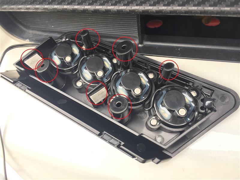 カーメイト LEDデイライトランプ アクア専用 ホワイト加工取付け
