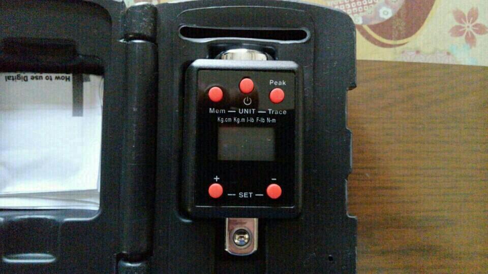 デジタルトルクアダプターを使って測定してみた。