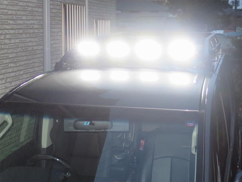 LEDワークライト ルーフへ取付け 配線編